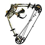 SHARROW Archery Compound Bows Kit Dual-purpose 45lbs Catapult Steel Ball Compound Bows