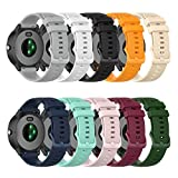 22mm Soft Colorful Silicone Watch Band Straps Compatible with Fossil Gen 5 Carlyle/Julianna/Q Wander/Founder/Marshal/Gen 4 Explorist HR Replacement Watch Bands (TenColors)