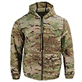 Ultra Lightweight Summer Woobie Hoodie, Nylon Ripstop Shell, Made in USA, Multicam, Size Large