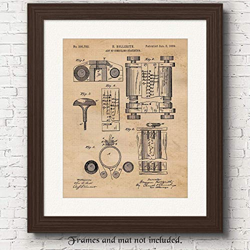 Vintage First Computer Patent Poster Prints, Set of 1 (11x14) Unframed Photo, Great Wall Art Decor...