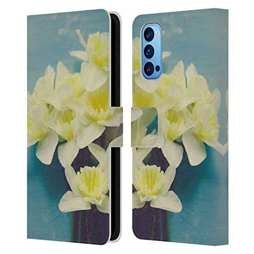 Head Hülle Designs Offizielle Olivia Joy StClaire Narzisse Bouquet Auf Dem Tisch Leder Brieftaschen Handyhülle Hülle Huelle kompatibel mit Oppo Reno 4 Pro 5G