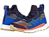 adidas Terrex Free Hiker Gore-TEX Hiking Shoes Grey Six/Bold Blue/Legend Ink 13 D (M)