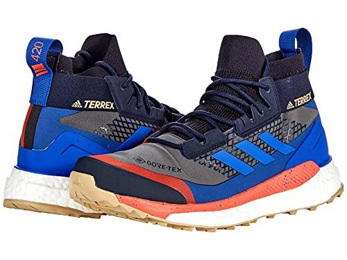 adidas Terrex Free Hiker Gore-TEX Hiking Shoes Grey Six/Bold Blue/Legend Ink 10 D (M)