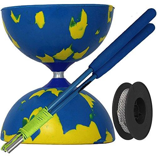 Juggle Dream - Diábolo Jester, Palos de Control Fibra de Vidrio y...