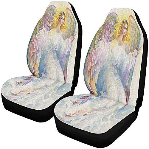 Beth-D Schöner Engel mit Flügeln, für Vordersitze, 2 Stück, Autositzbezüge vorne nur Universal Fit 14 – 17 Zoll