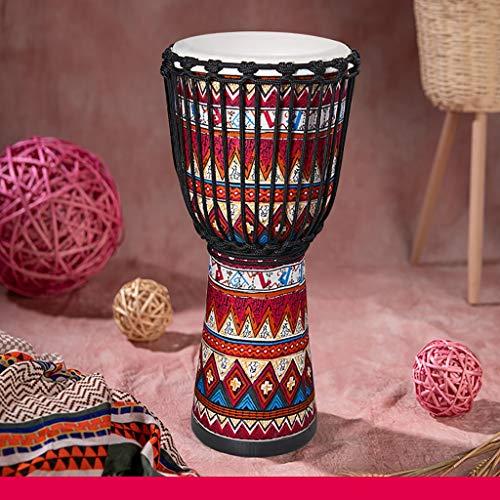 Tambor africano Tela de madera, tambor de bongo, pandereta, niños, jardín de infantes, principiantes, basado en madera de raíz, piel de cabra vieja, calidad de sonido, calidad de sonido, buenos bajos