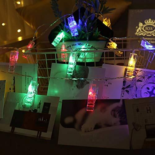 LED bricolage guirlande carte photo clip guirlande lumineuse de guirlandes de Noël décoration de la maison guirlande lumineuse batterie multicolore 2m10 leds