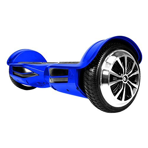 Swagtron T3 Premium Hoverboard Version 2 - Bluetooth Speaker & Lights, Personalize Experience w/Android/iOS App (Blue)
