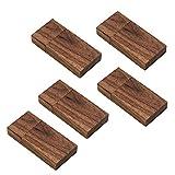 JBOS [Paquete de 5] Tarjeta de memoria de madera USB 3.0 Unidad flash USB de velocidad rápida [Nuez (5) - 8 GB]