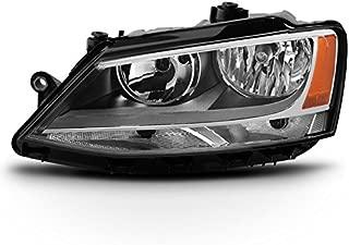 For 2011-2018 VW Jetta 4-Door Sedan Models Driver Left Side Halogen Headlight Replacement