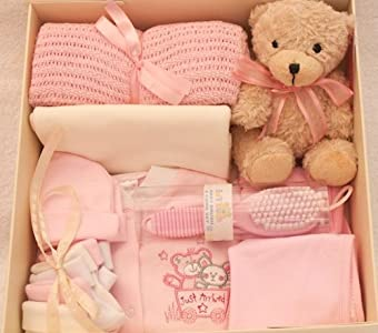 Set de regalo para recién nacidos, ajuar para recién nacidos rosa rosa Talla:0-3 Meses