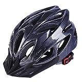 Casco de Seguridad para Bicicleta Ultraligero MTB Road Outdoor Cycling 22.44-24.80 Pulgadas Head Protective Hat, Unisex Adulto, Negro