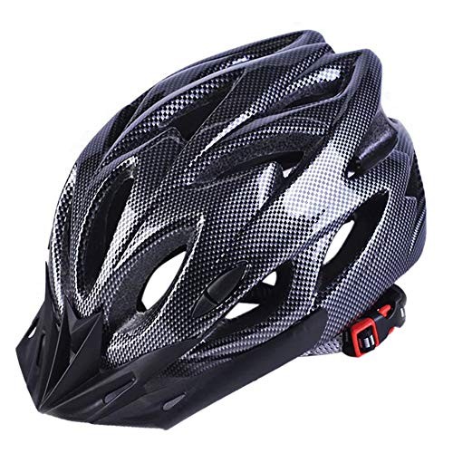 Casco de Seguridad para Bicicleta Ultraligero MTB Road Outdoor Cycling 22.44-24.80 Pulgadas Head Protective Hat, Unisex Adulto, Negro