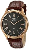 Rotary Men's gs02967/06/10 Rose Gold-Tone Stainless Steel Watch with Rotating Case