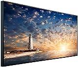 Ecowelle Infrarotheizung mit Bild | 1200 Watt | 120x60x2cm | Infrarot Heizung| | Made in Germany| d 16 Leuchtturm