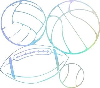 USC DECALS Baseball Basketball Football Volleyball (Hologram) (Set of 2) Premium Waterproof Vinyl Decal Stickers for Laptop Phone Accessory Helmet Car Window Bumper Mug Tuber Cup Door Wall Decoration