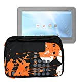 DURAGADGET Bolso/Maletín Diseño Urbano para Tablet Sunstech TAB10 Dual - con Bolsillo Exterior,Bandolera Ajustable Y Asa Superior