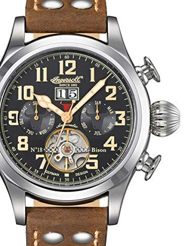 Ingersoll Herren Analog Automatik Uhr mit Leder Armband IN4506BKCR