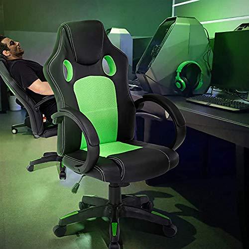 YIQIFEI Ledersessel kleinen Ergonomischer Bürostuhl mit hoher Rückenlehne, bequemer und langlebiger Computertischstuhl mit hochklappbaren Armen und Rückenlehne