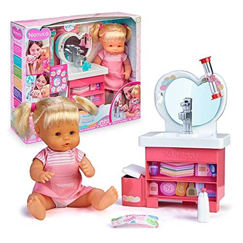 Nenuco- Do Ci Laviamo Le Mani Baby Doll con Lavello Che Funziona Davvero, Multicolore, 700016659