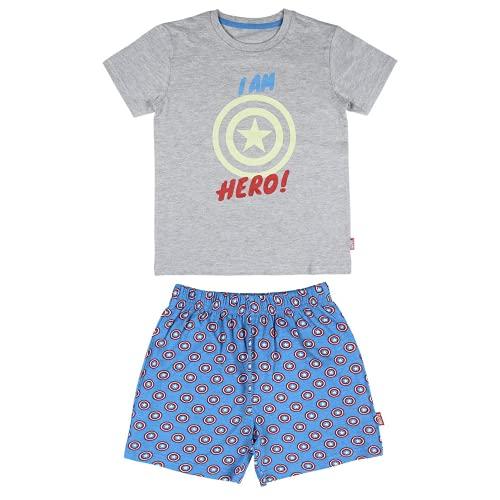 Cerdá Avengers, Pijama Brilla Oscuridad de Los Vengadores para Niños de Color Gris Juego, 10 años