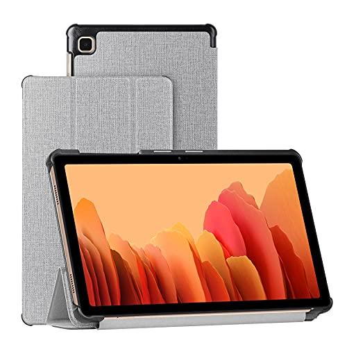Foluu Galaxy Tab A7 Lite 8,4 Zoll Tablet-Hülle mit S-Stifthalter, schlank leicht dreifach faltbar aus PU-Leder automatische Sleep/Wake-Funktion magnetisch für Samsung Galaxy Tab A7 Lite 8.4 2021 grau