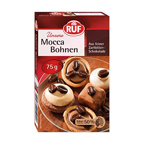 RUF Mocca-Bohnen • Kaffee-Bohnen aus Zartbitter-Schokolade, 17er Pack (17 x 75 g)