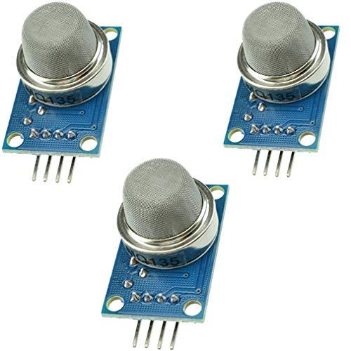 MQ135 MQ-135 Luftqualitäts-Sensor für gefährliche Gas-Erkennung, Sensormodul für Arduino Umweltmessung, 3 Stück