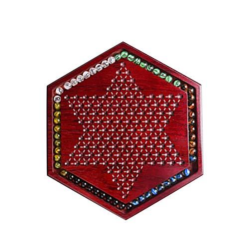 Wooden Chinese Checkers, Chinese Checkers Brettspiel, Klassisches Strategiespiel Mit Murmeln Und Schublade, Checkerspiel Für Kinder Erwachsene Familie, Für Alle 6-Spieler