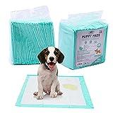 Empapadores Perro Super-absorbentes, Almohadillas para la incontinencia (M 40X50CM 30PCS, Blanco)