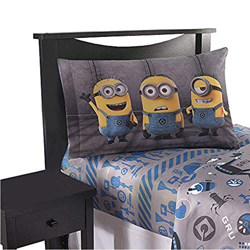 Franco Manufacturing Despicable Me Minions 'Follow Mel' 3 Piece Twin sheet set with reversible pillowcase #137755571
