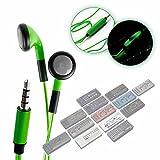 DURAGADGET Auriculares In-Ear con Luz LED Verde para Serie Roland Boutique TR-09, D-05, VP-03,...