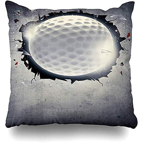 Aoyutiy decoratieve kussenslopen balsport tournament abstract golf sport vrije tijd licht fun bal chip golfclub kussensloop vierkant