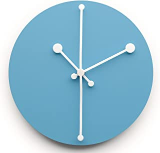Alessi Dotty Wall Clock, 20.00 x 20.00 x 2.50 cm, Turquoise