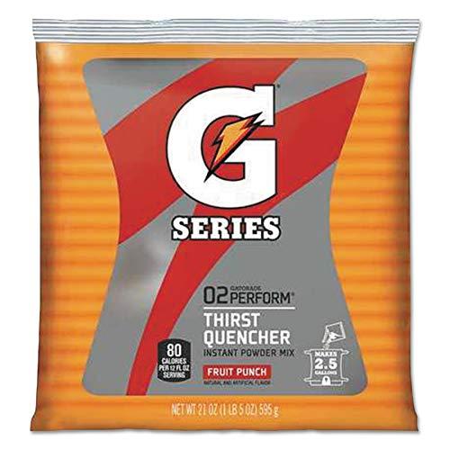 GATORADE FOODS & BEVERAGES 32 Pack 21 OZ Fruit Punch Gatorade Powder Packets Provides 2