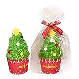 TTMall Regalo Creativo del Tovagliolo del Cotone di Forma della Torta Dell'Albero di Natale del Pupazzo di Neve di Santa