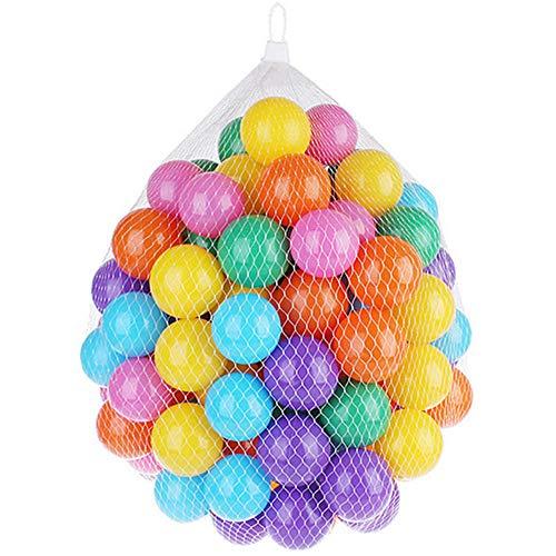 None brand 100 Stück bunter Ocean Ball, 5,5 cm Durchmesser, ungiftig, Crush Proof Pit Balls mit wiederverwendbarer und langlebiger Aufbewahrungstasche, Toy Balls für Kinder