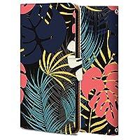 Galaxy A32 5G ケース 手帳型 ギャラクシーA32 カバー スマホケース おしゃれ かわいい 耐衝撃 花柄 人気 純正 全機種対応 WX011-熱帯の葉 PL_植物 ファッション 5153130