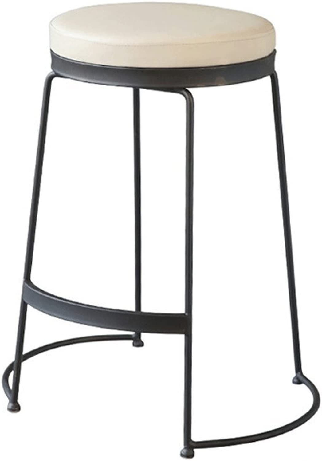 TXXM Barstools Metal Fashion Makeup Stool Dressing Stool shoes Bench Dining Chair (color   Black, Size   H45CM)