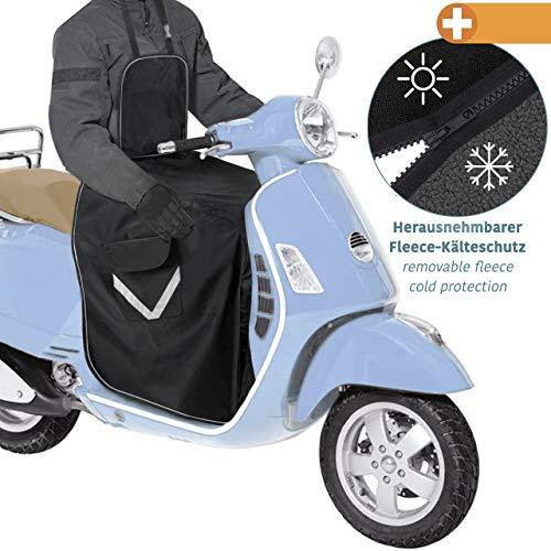 Coprigambe scooter universale - Copertura prottetiva per moto - Parabrezza per tutti gli scooter - Misura universale - Certificato TUV