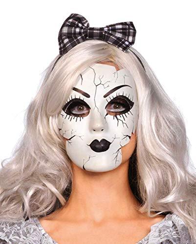 Horror-Shop Maschera Bambola in Porcellana con Crepe