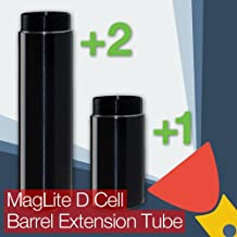 MagLite D Cell Barrel/Body Extension Tube (One Cell or Two Cell Battery Options) (Two Cell Extension)