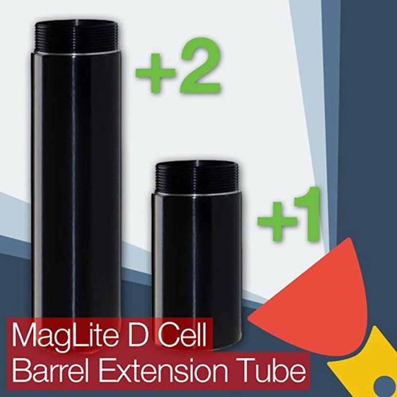 TorchUpgrades MagLite D Cell Barrel/Body Extension Tube (One Cell or Two Cell Battery Options)