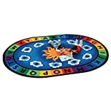 Carpets for Kids Literacy Sunny Day Learn and Play Kids Rug Size: Oval 8'3' x 11'8', Blue
