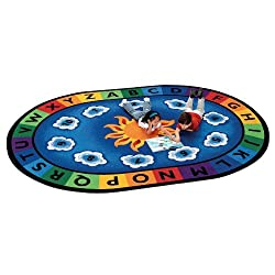 "Sunny Day Oval Rug for Preschools 4'5"" x 5'10"""
