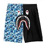 Bape Blood Shark Youth Boys' Shorts Summer Beach Casual Pants Swim Trunk Quick Dry M(10-12)