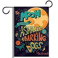 ガーデンフラッグ両面印刷防水犬との心に強く訴える引用 庭、庭の屋外装飾用