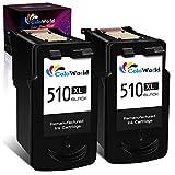 ColoWorld Remanufacturado 510 510XL Negro Cartuchos de tinta para Canon PG-510 XL para Canon Pixma MP495 MP250 MP270 MP280 MP480 MP499 MP230 iP2700 iP2702 MX320 MX350 MX410 MP240 impresoras(2 paquete)