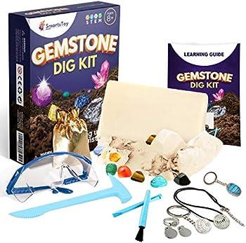 Smartstoy Gem dig kit with 12 Real Gemstones