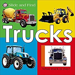 Slide and Find Trucks, a Reading Boots best truck book